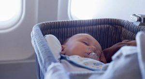 carriola de baston bebe en avion