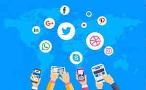 íconos de varias redes sociales