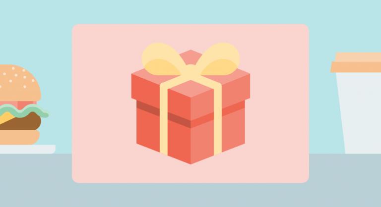 Ahorro tarjetas de regalo para clientes