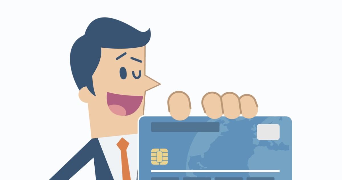 Hombre usando tarjeta de crédito
